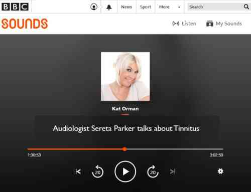Sereta & Duncan talk about Tinnitus on BBC Radio